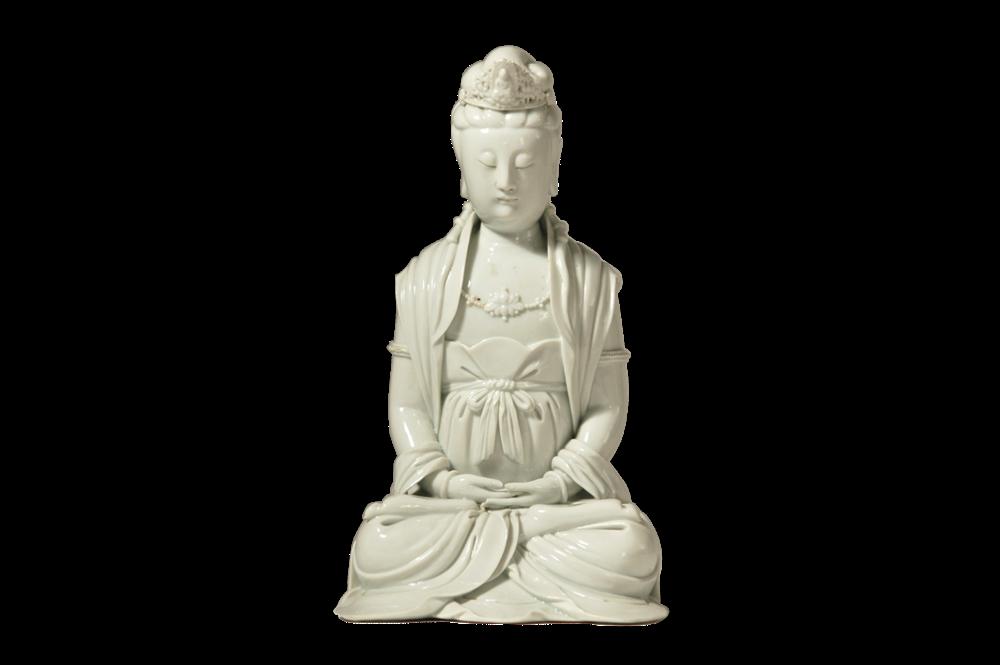 Der Bodhisattva des Mitgefühls in Meditationshaltung