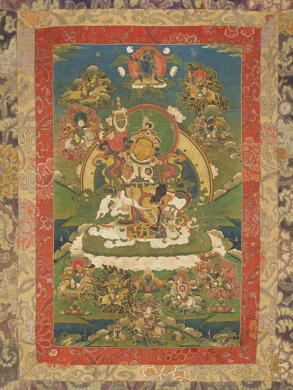 Jambhala, die Gottheit des Reichtums