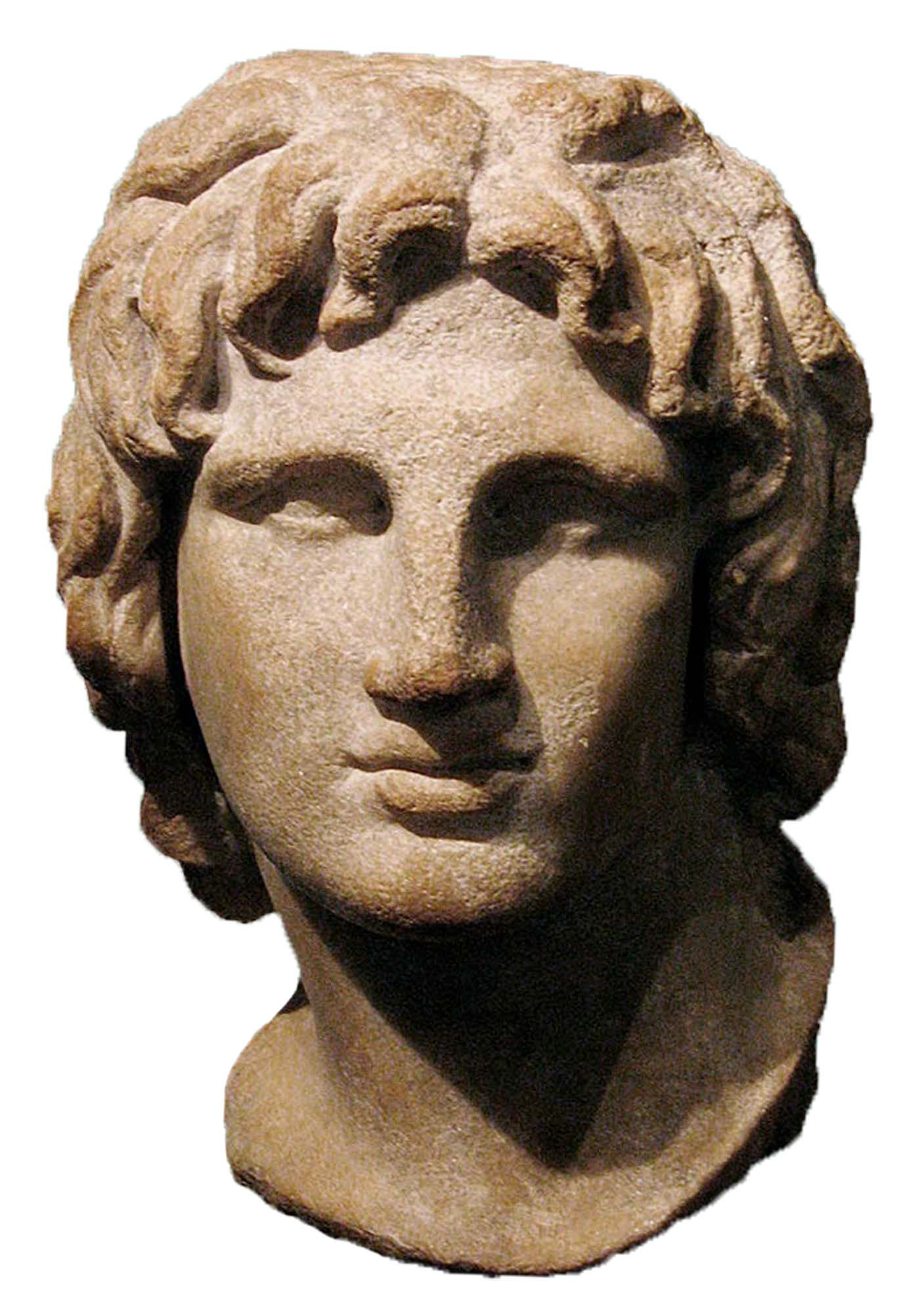 Alexander the Great, Bust, Hellenic, Marble, 2nd to 1st c. BCE, British Museum, London, UK