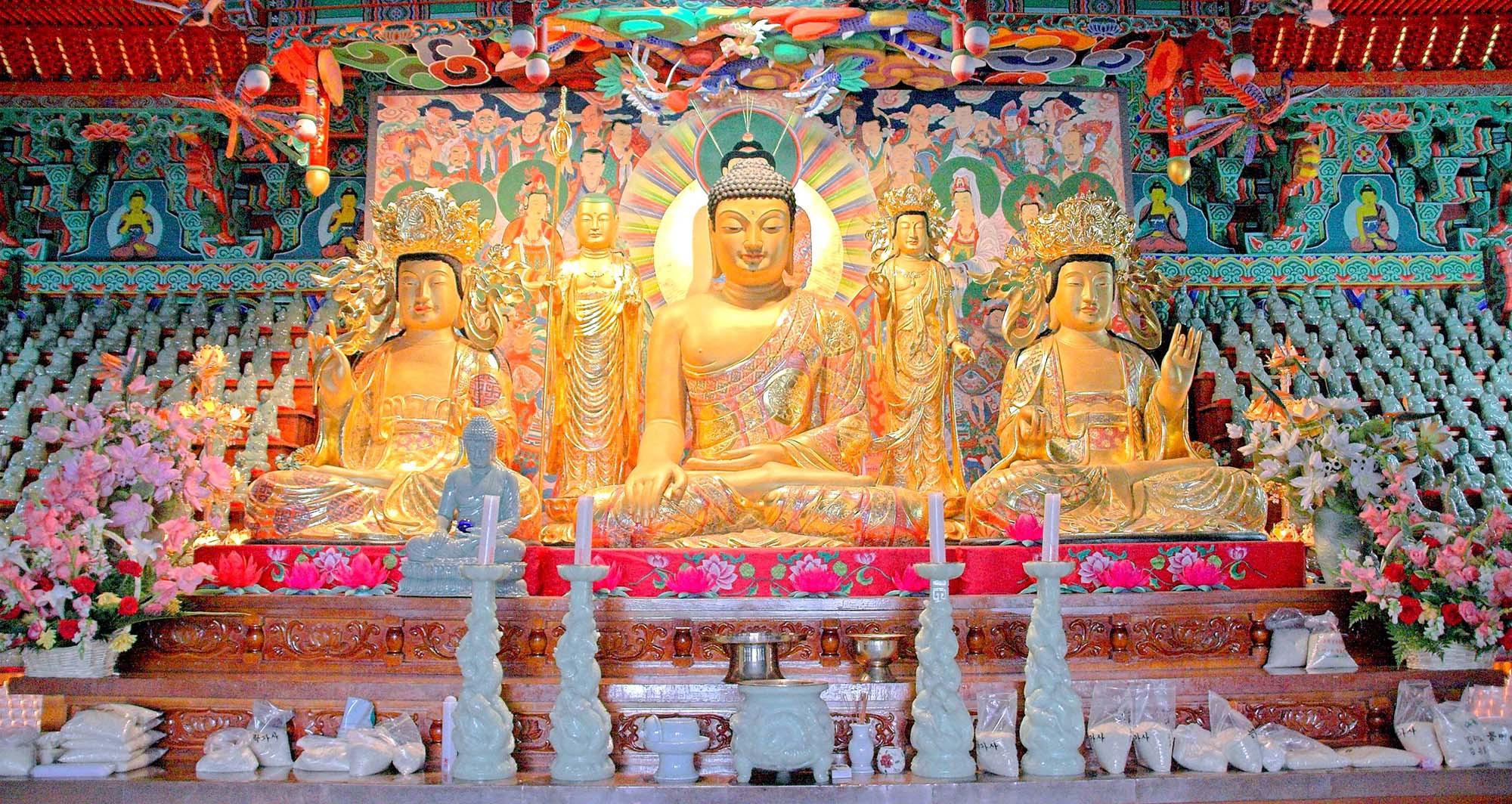Altar in the Deungmyeongnakgasa Temple, Gangneung, South Korea