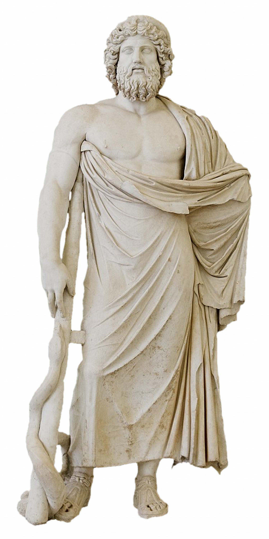 Statue of Asclepius, National Archaelogical Museum, Naples, Italy