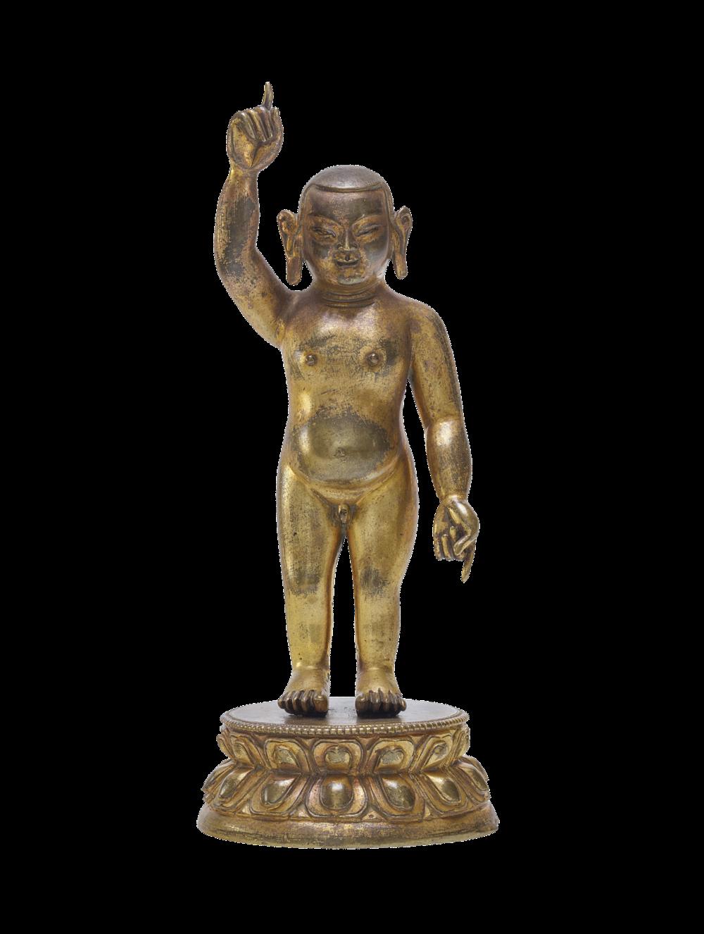 Buddha Shakyamuni als Neugeborener