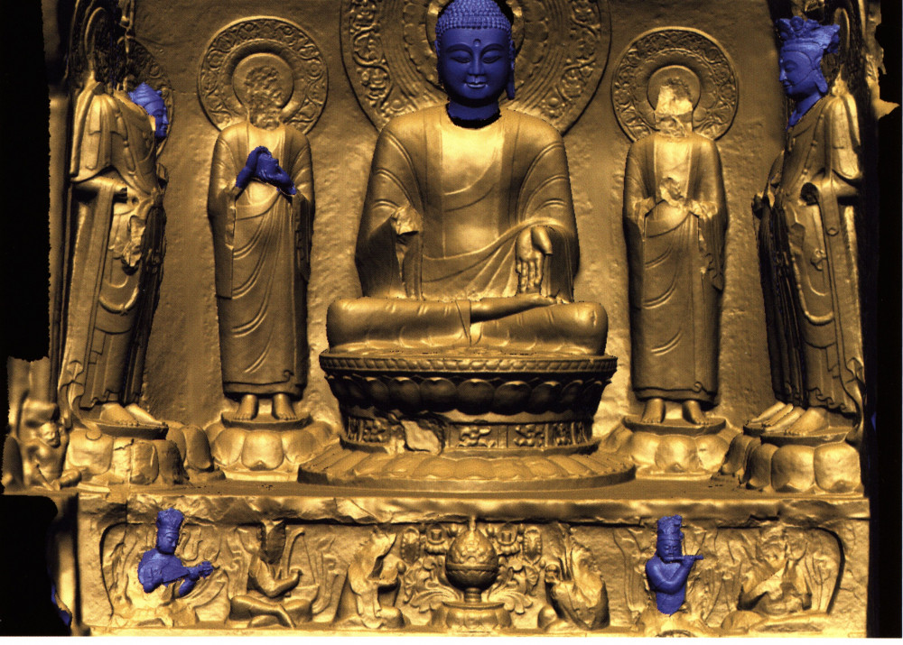 Virtual reconstruction of the Buddha figure, Southern niche in the southern grotto of the Xiangtangshan cave temple, Hebei Province, China