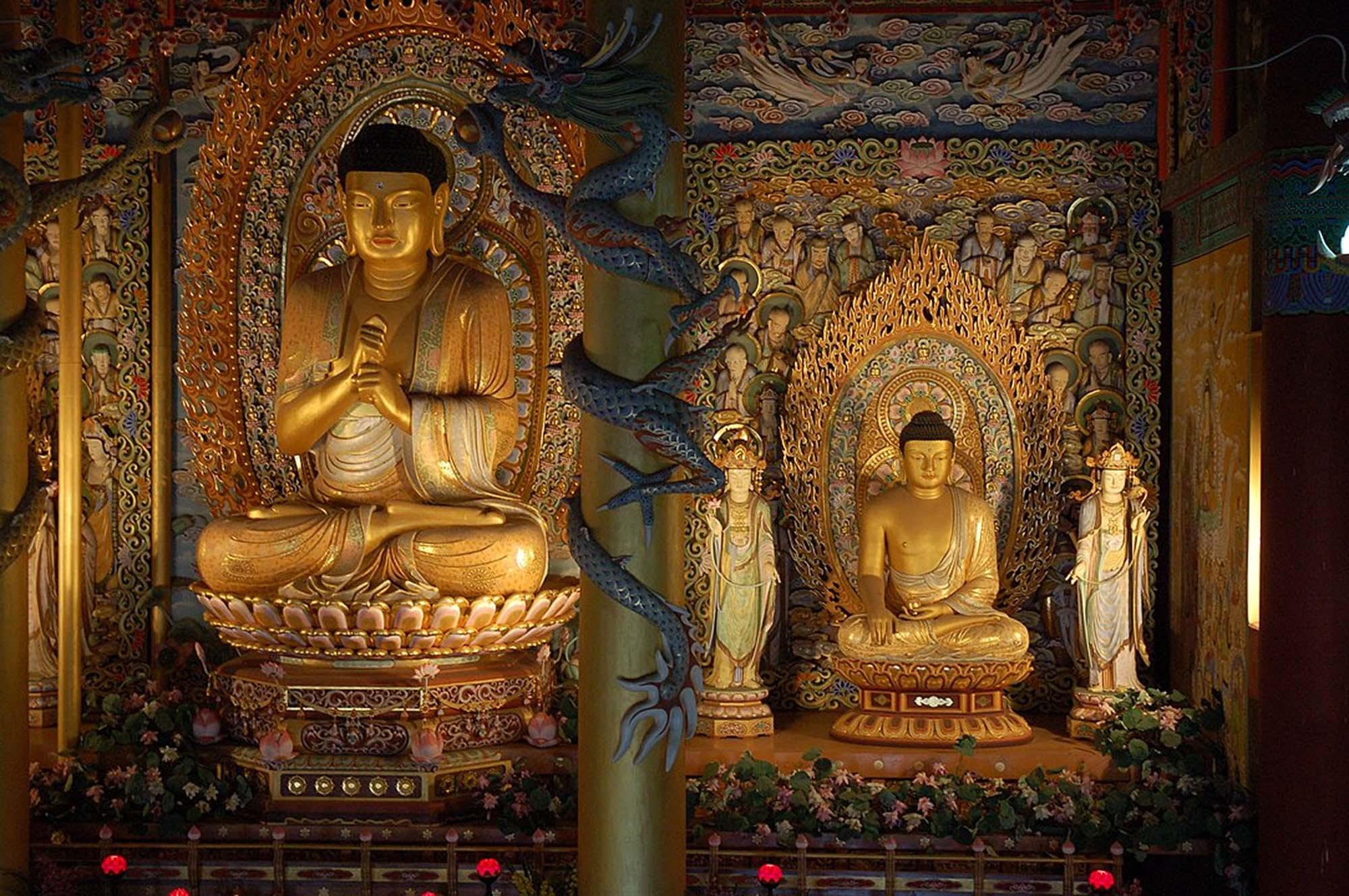 Buddhist altar, Jeju, South Korea