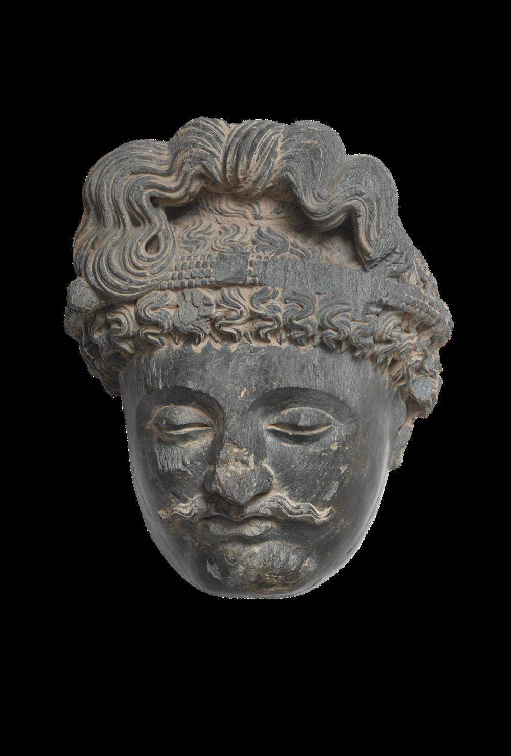 Monumentaler Kopf eines Bodhisattva
