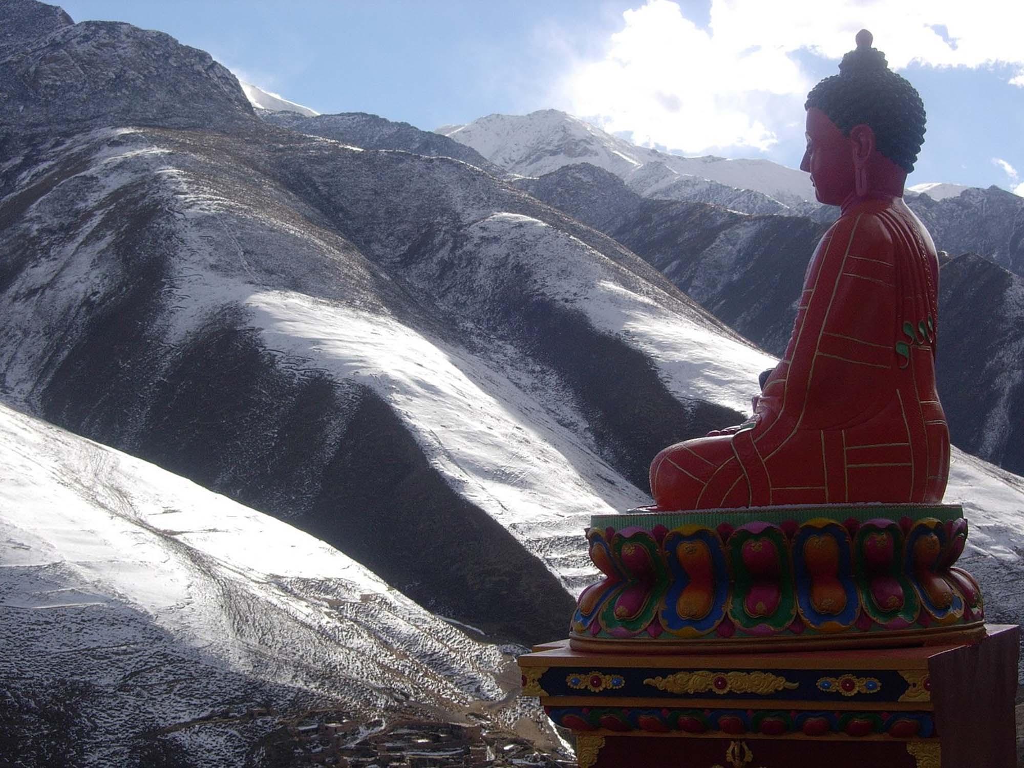 Sky burial site, Yushu, Tibet