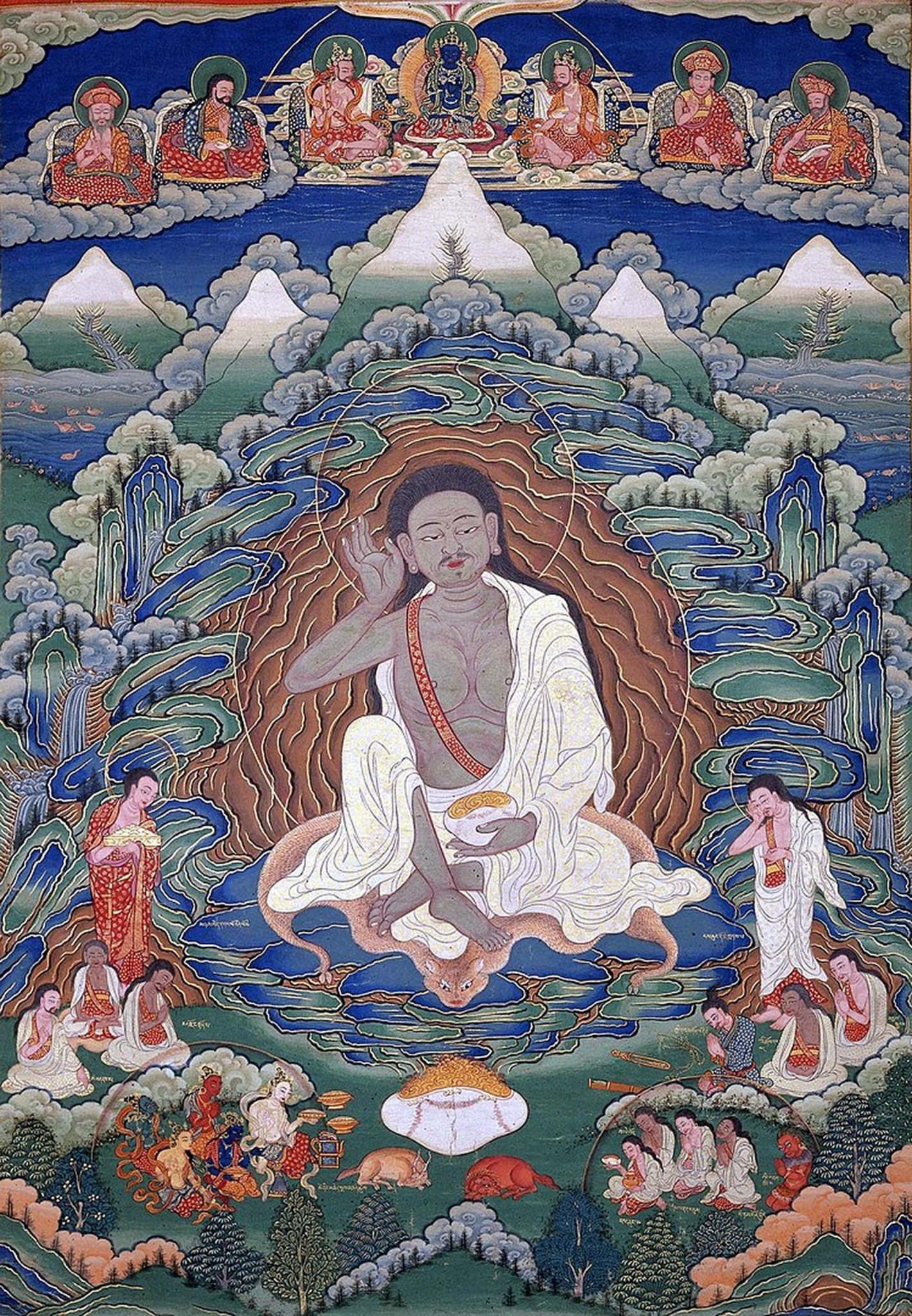 Milarepa, Thangka from Bhutan