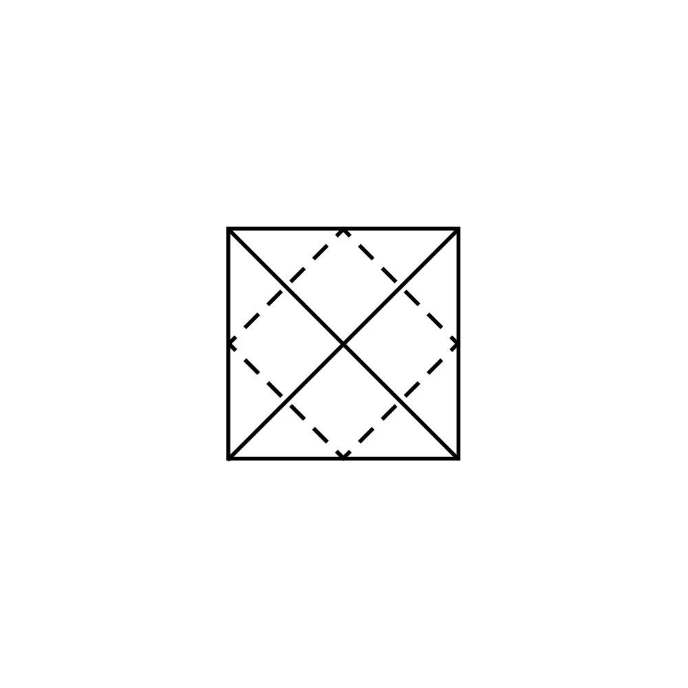 Lotus Folding Guide: Step 2