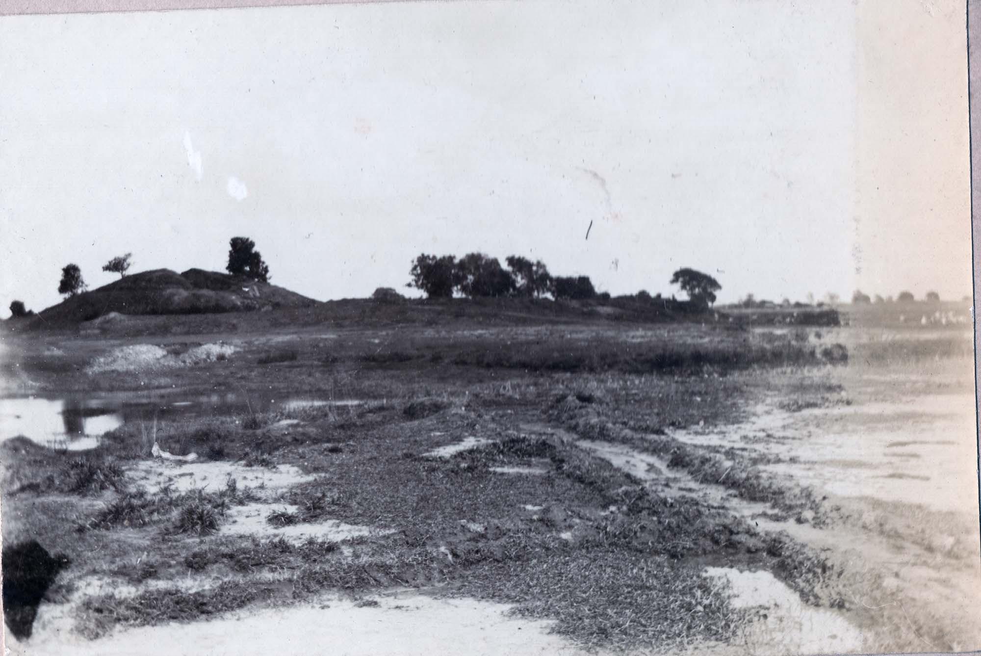Longitudinal section through the Piprahwa stupa, 1898