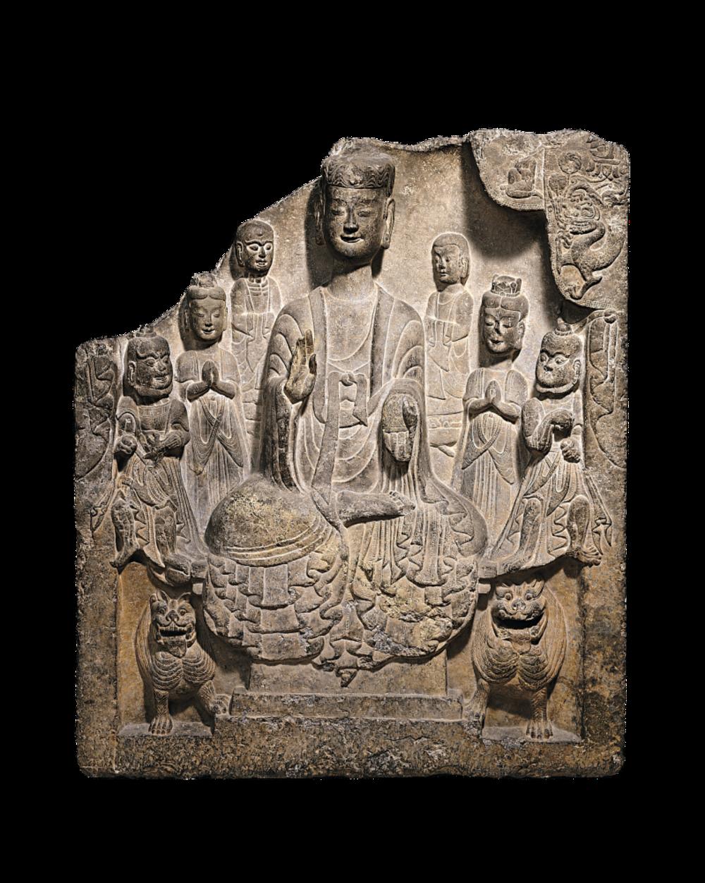 Votivstele mit Buddha Shakyamuni