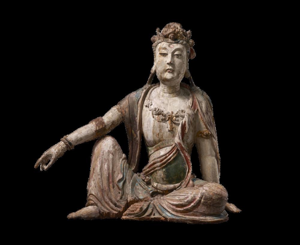 Guanyin, der Bodhisattva des Mitgefühls, in der Haltung königlicher Lässigkeit