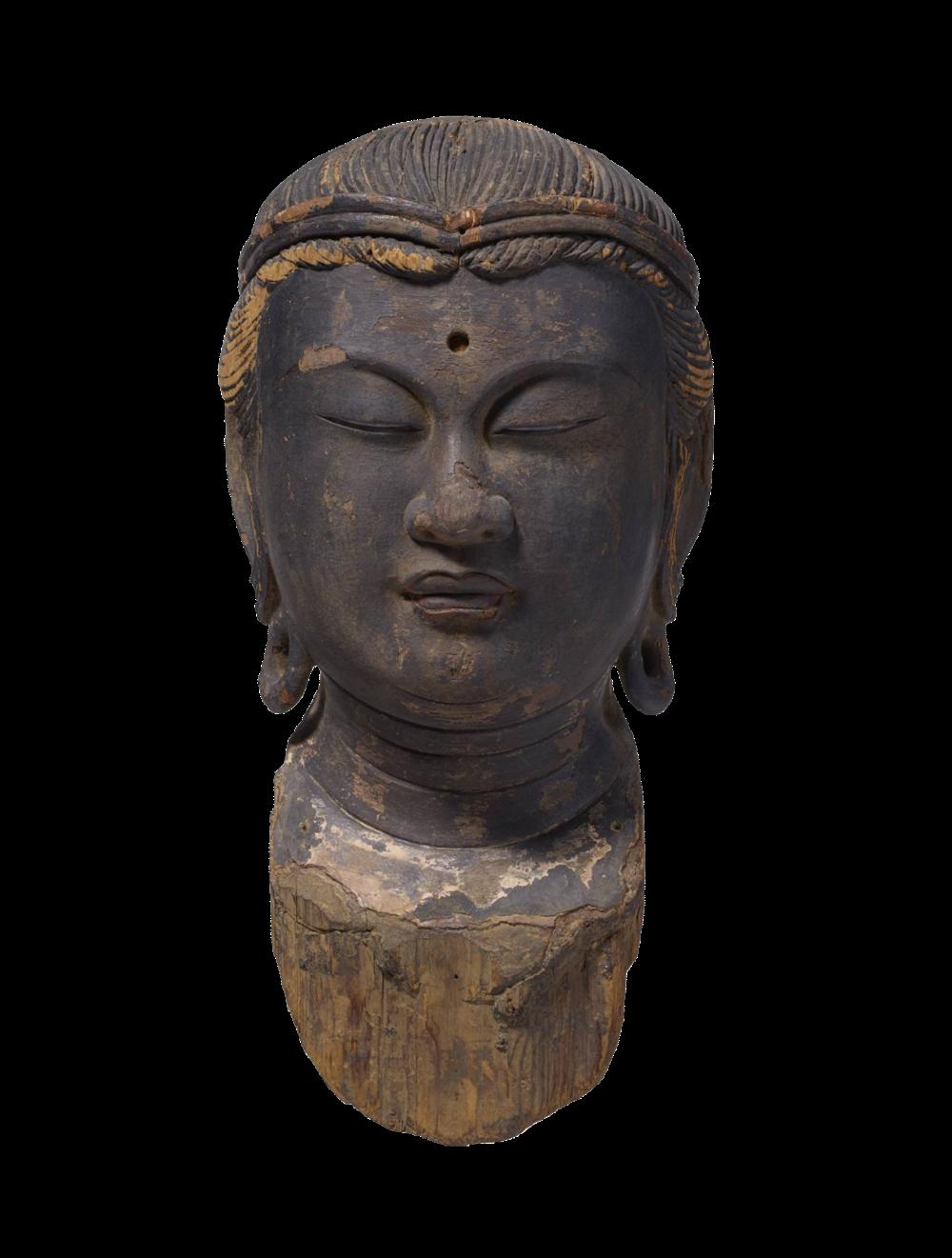 Kopffragment eines Bodhisattva