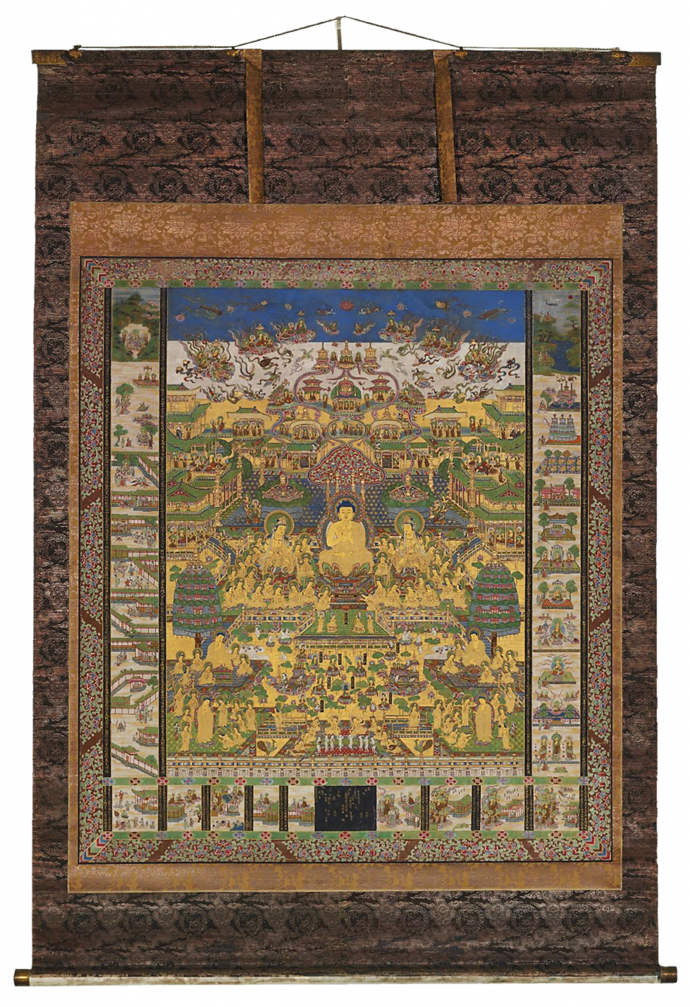 Taima Mandara, Paradies des Amida Buddha