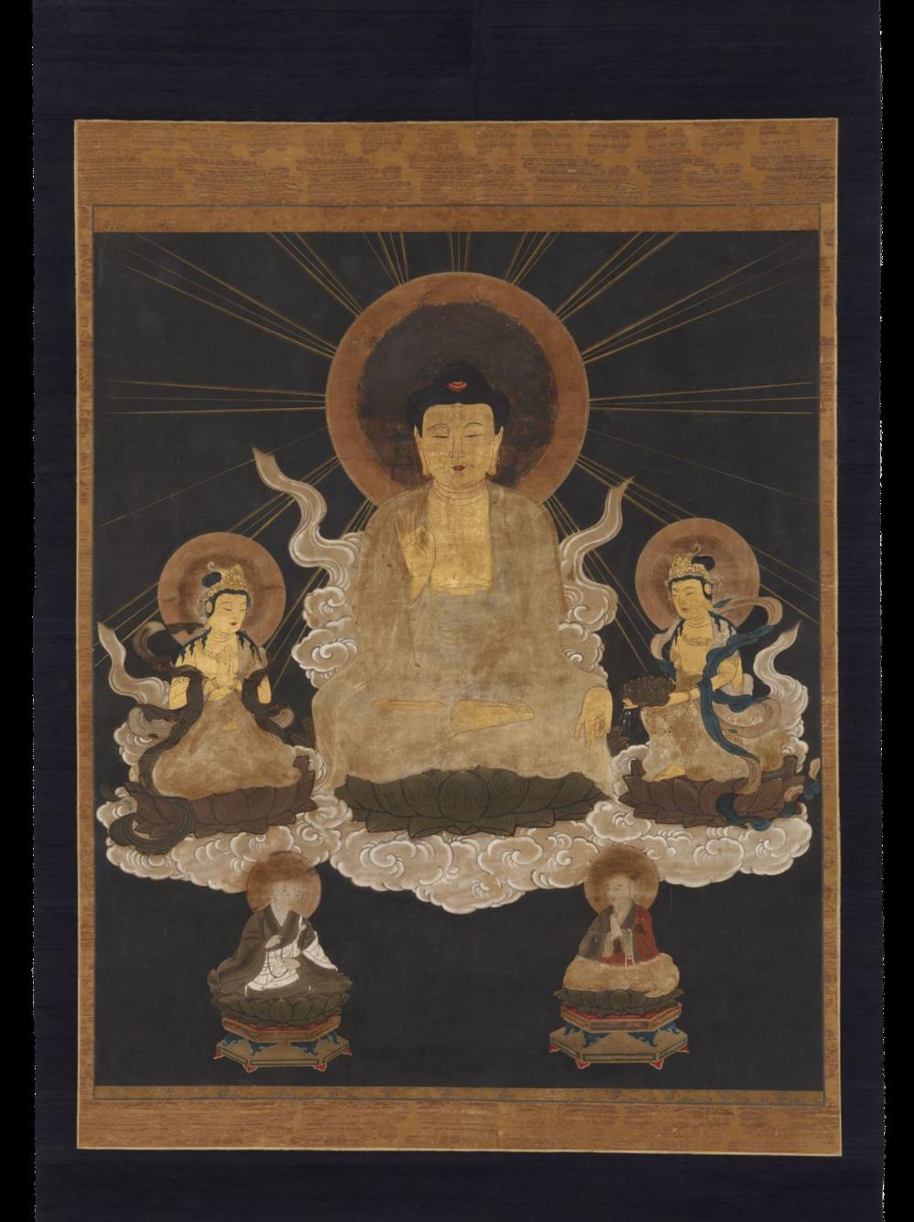 Die Herabkunft des Buddha Amida