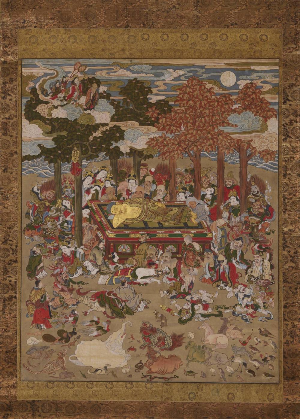 Shakyamuni geht ins Nirvana ein