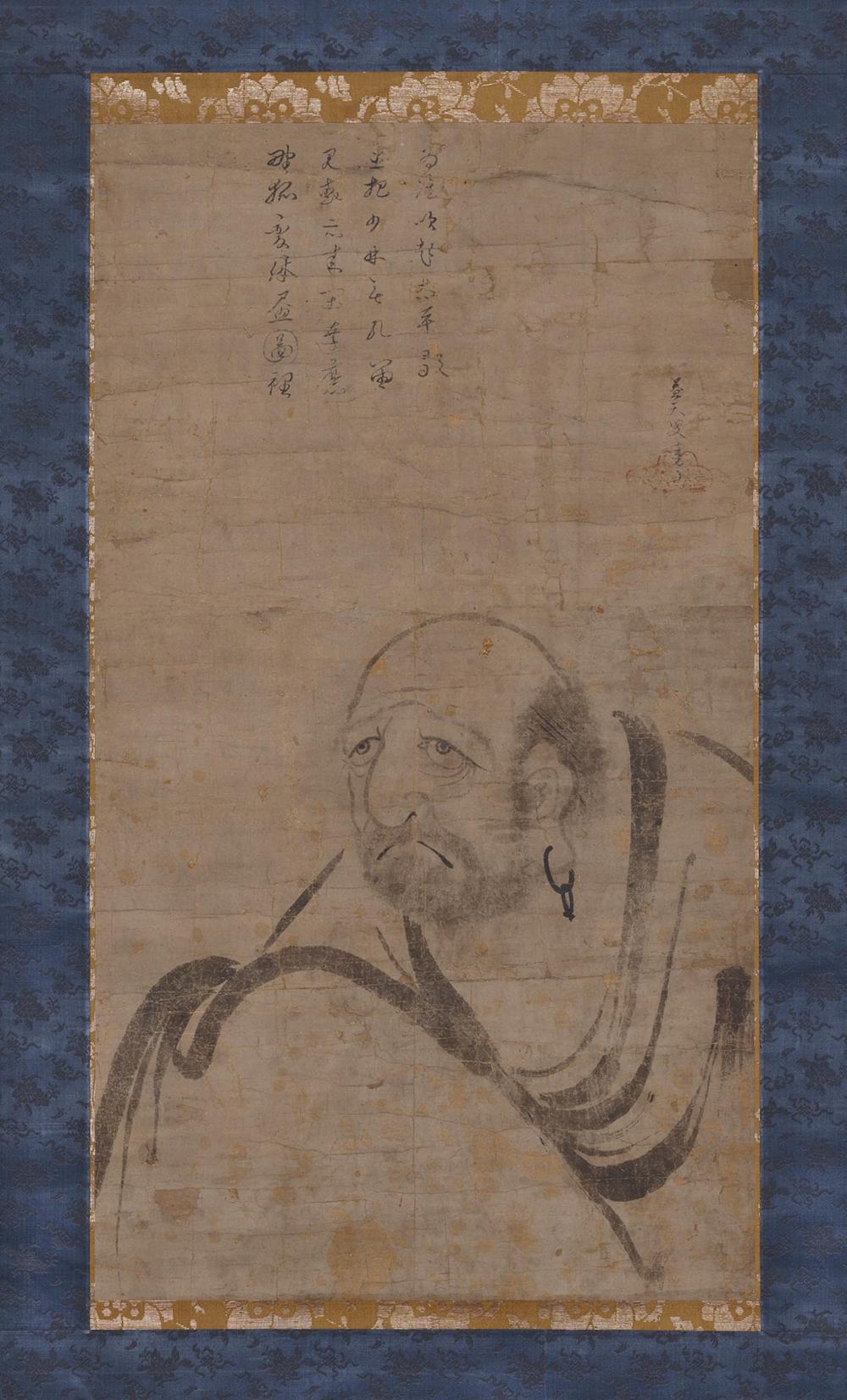 Halbfigurenbild des Zen-Patriarchen Bodhidharma