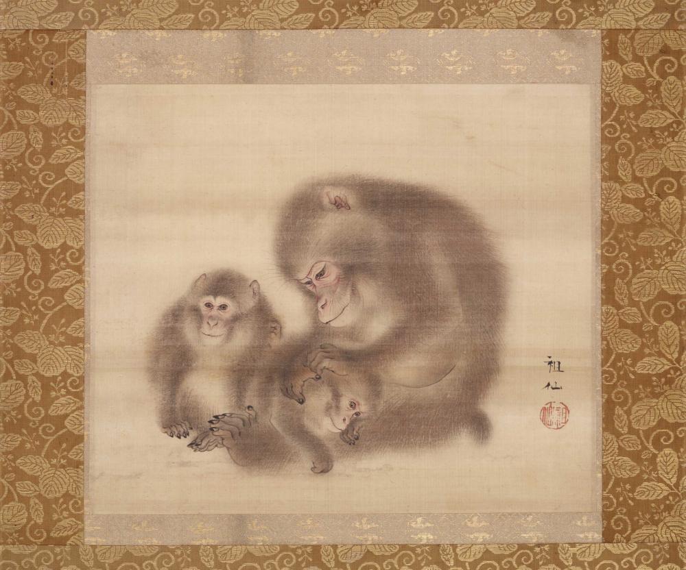 Affe als Symbol für nicht kontrollierbare Begierden