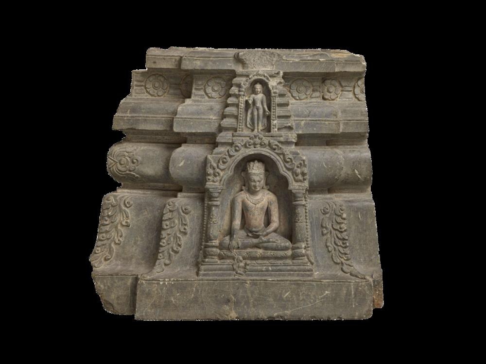 Der Buddha ruft die Erdgöttin als Zeugin an