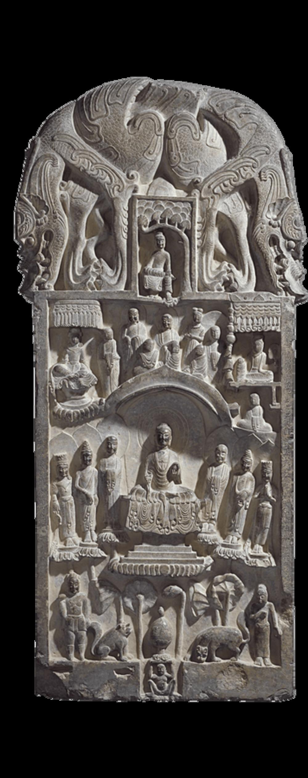 Buddhistische Votivstele der Familie Yan