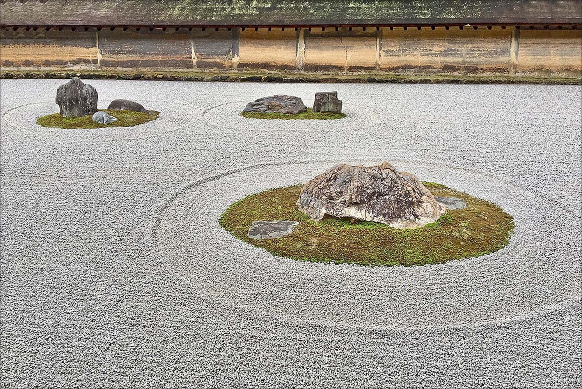 Zen Garden at Ryoan-ji, Kyoto, Japan